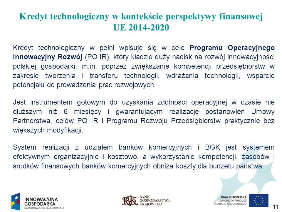 Kredyt technologiczny w kontekście perspektywy finansowej UE 2014-2020
