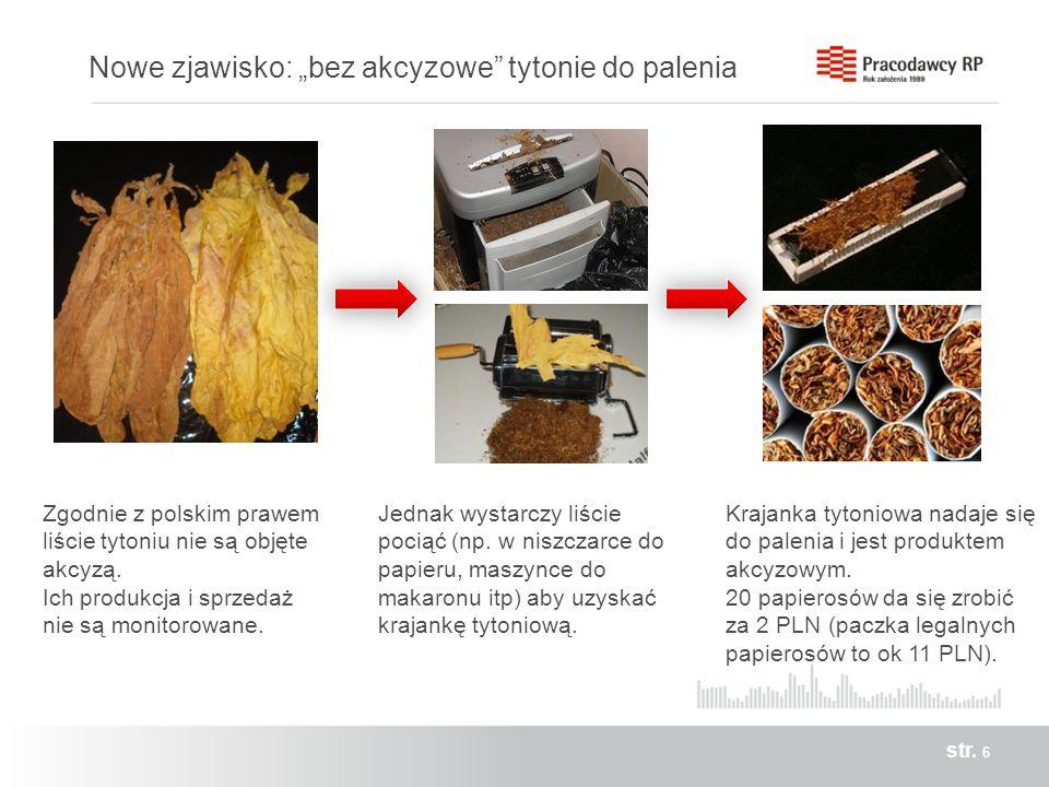 """Nowe zjawisko: """"bez akcyzowe tytonie do palenia"""