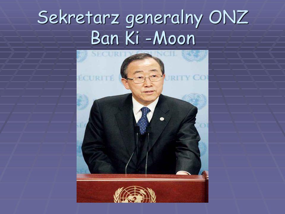 Sekretarz generalny ONZ Ban Ki -Moon