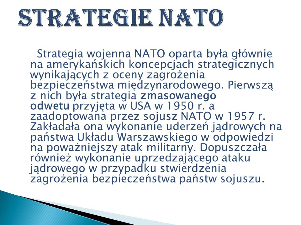 Strategie NATO
