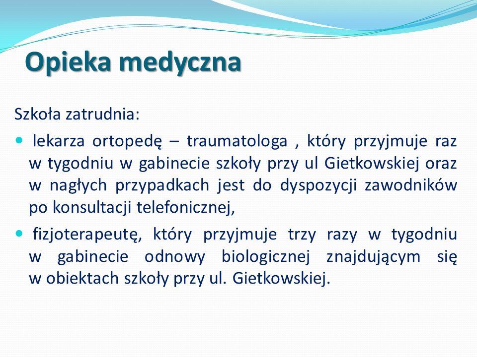 Opieka medyczna Szkoła zatrudnia: