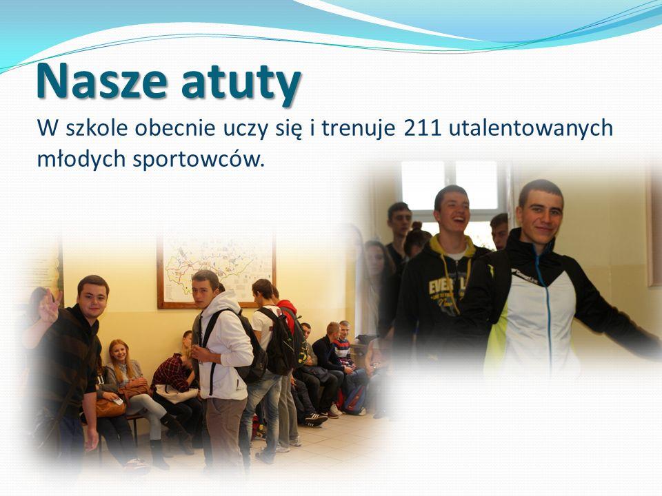 Nasze atuty W szkole obecnie uczy się i trenuje 211 utalentowanych młodych sportowców.