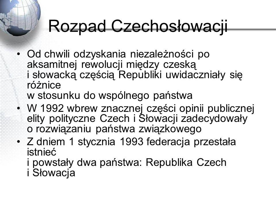 Rozpad Czechosłowacji