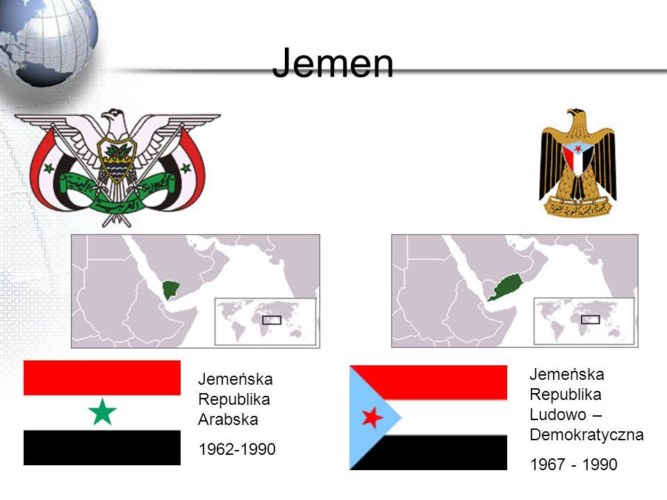 Jemen Jemeńska Republika Ludowo – Demokratyczna