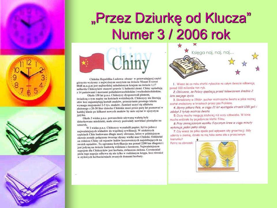 """""""Przez Dziurkę od Klucza Numer 3 / 2006 rok"""