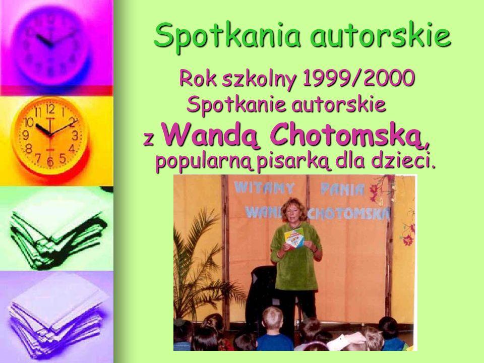 z Wandą Chotomską, popularną pisarką dla dzieci.