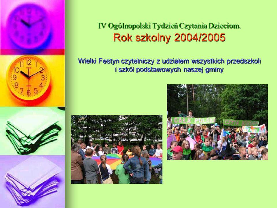IV Ogólnopolski Tydzień Czytania Dzieciom