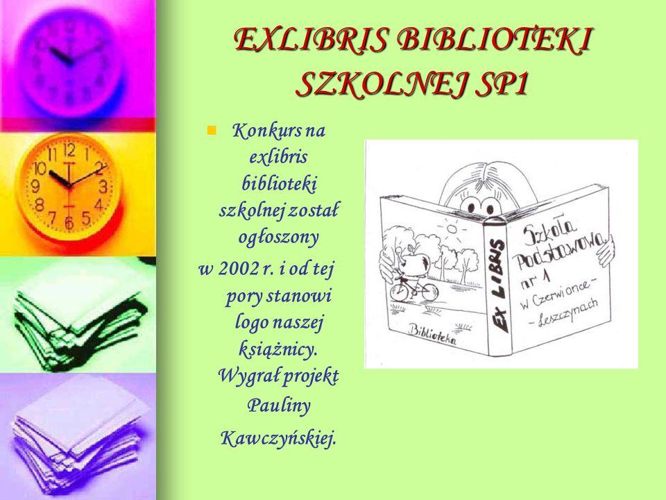 EXLIBRIS BIBLIOTEKI SZKOLNEJ SP1
