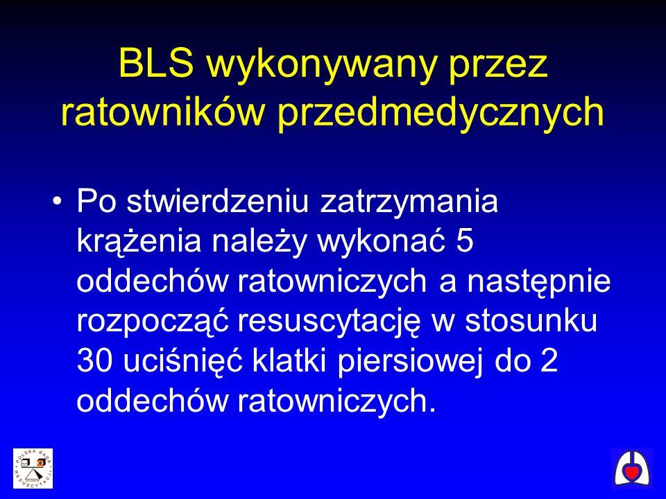 BLS wykonywany przez ratowników przedmedycznych