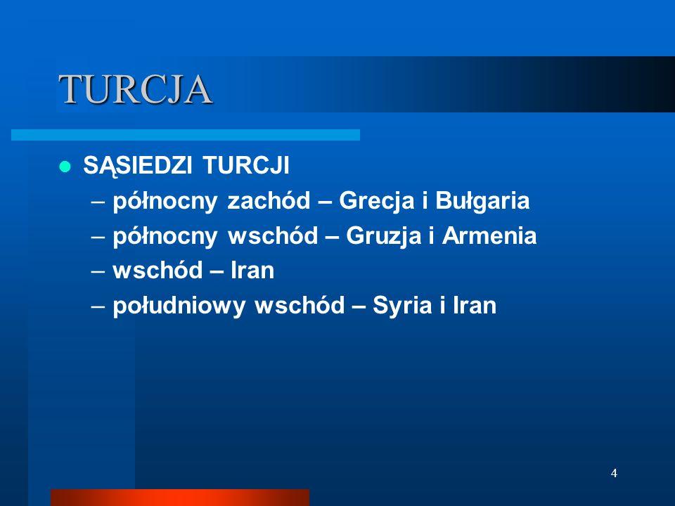 TURCJA SĄSIEDZI TURCJI północny zachód – Grecja i Bułgaria