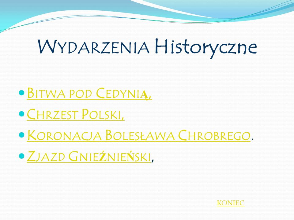 Wydarzenia Historyczne