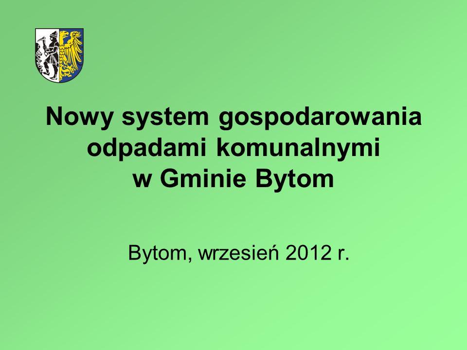 Nowy system gospodarowania odpadami komunalnymi w Gminie Bytom