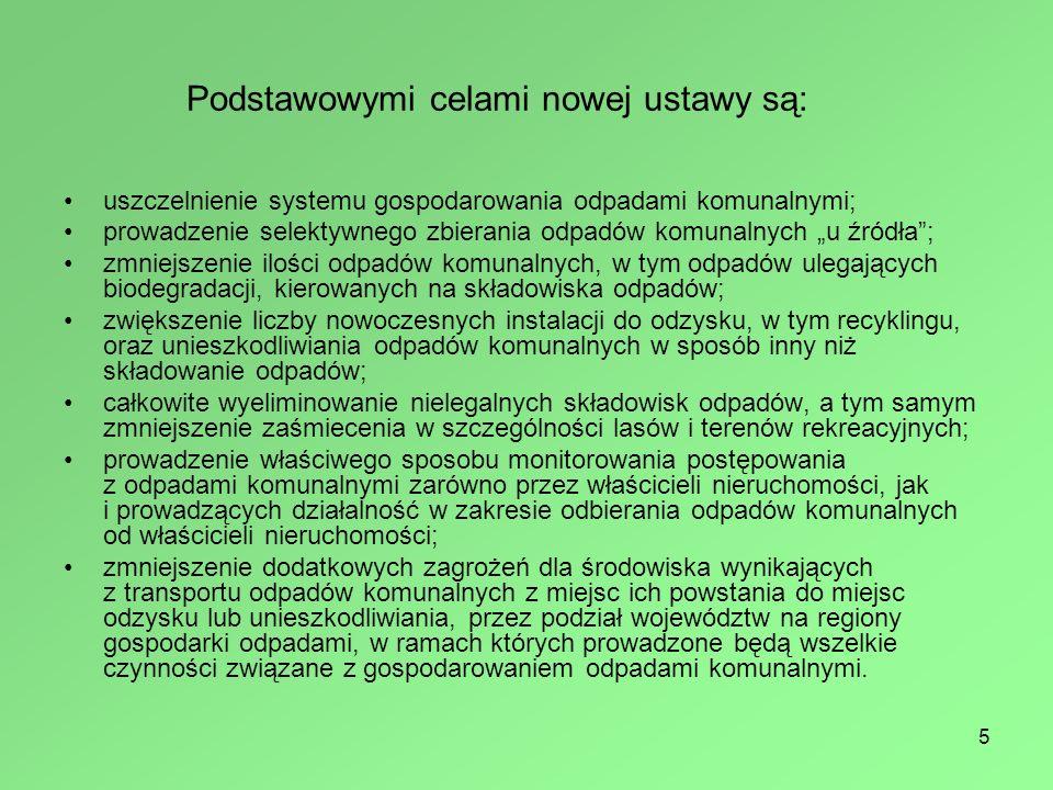 Podstawowymi celami nowej ustawy są:
