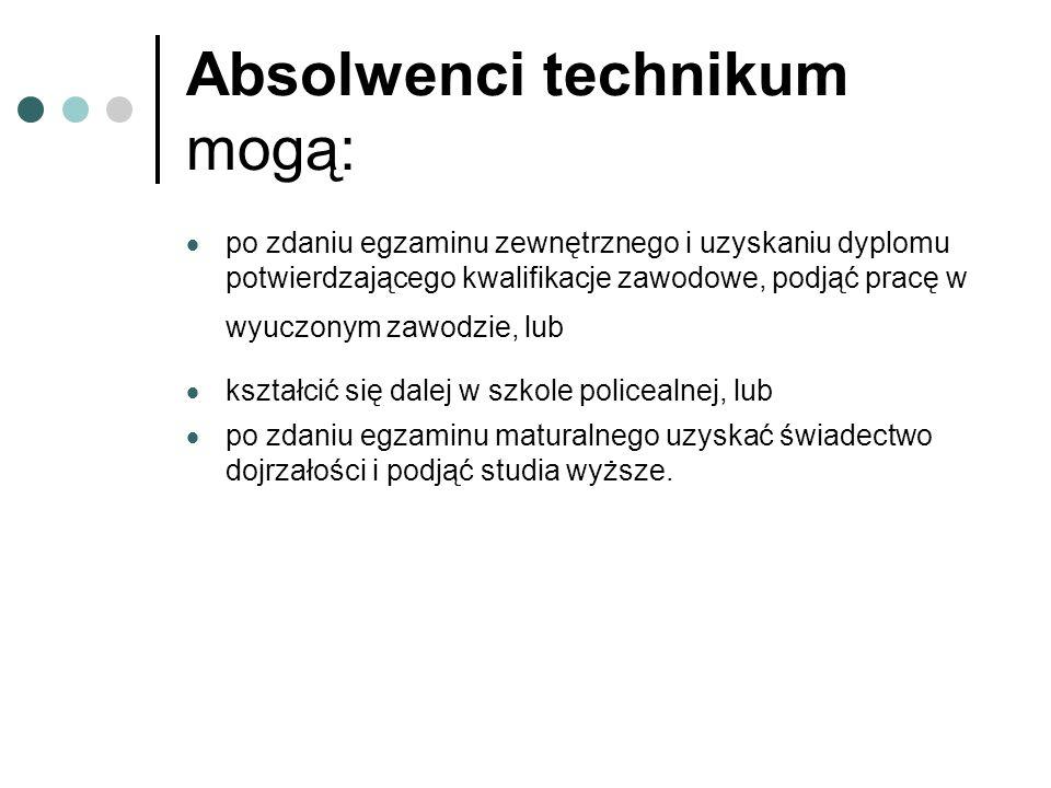 Absolwenci technikum mogą: