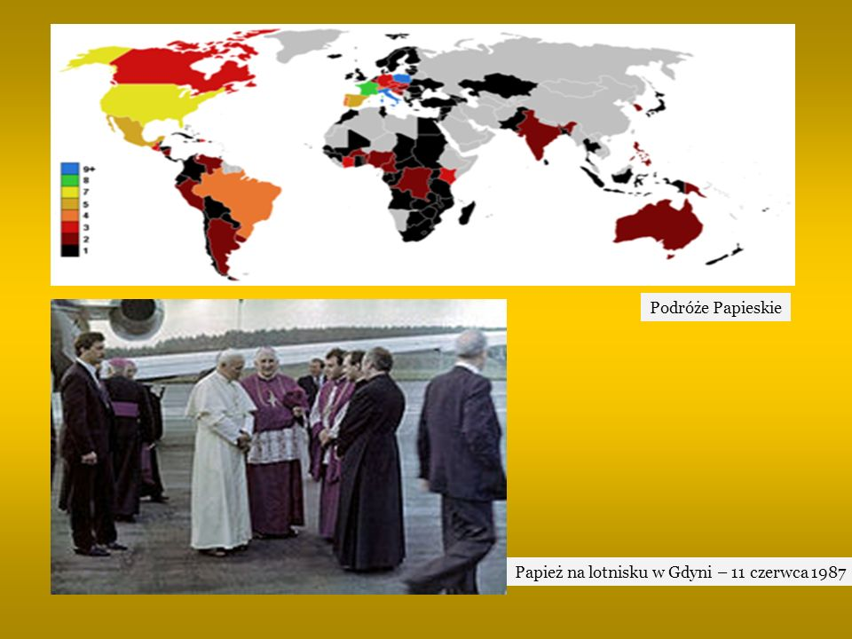 Podróże Papieskie Papież na lotnisku w Gdyni – 11 czerwca 1987