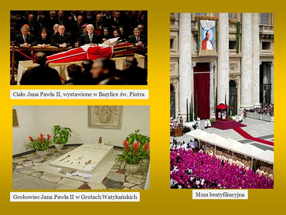 Ciało Jana Pawła II, wystawione w Bazylice św. Piotra