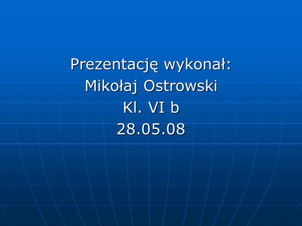 Prezentację wykonał: Mikołaj Ostrowski Kl. VI b 28.05.08