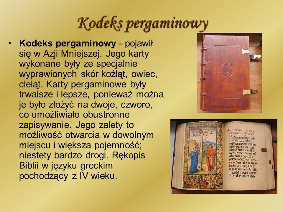 Kodeks pergaminowy