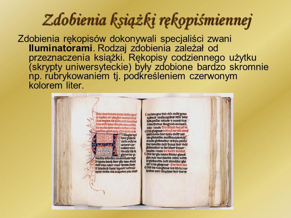 Zdobienia książki rękopiśmiennej