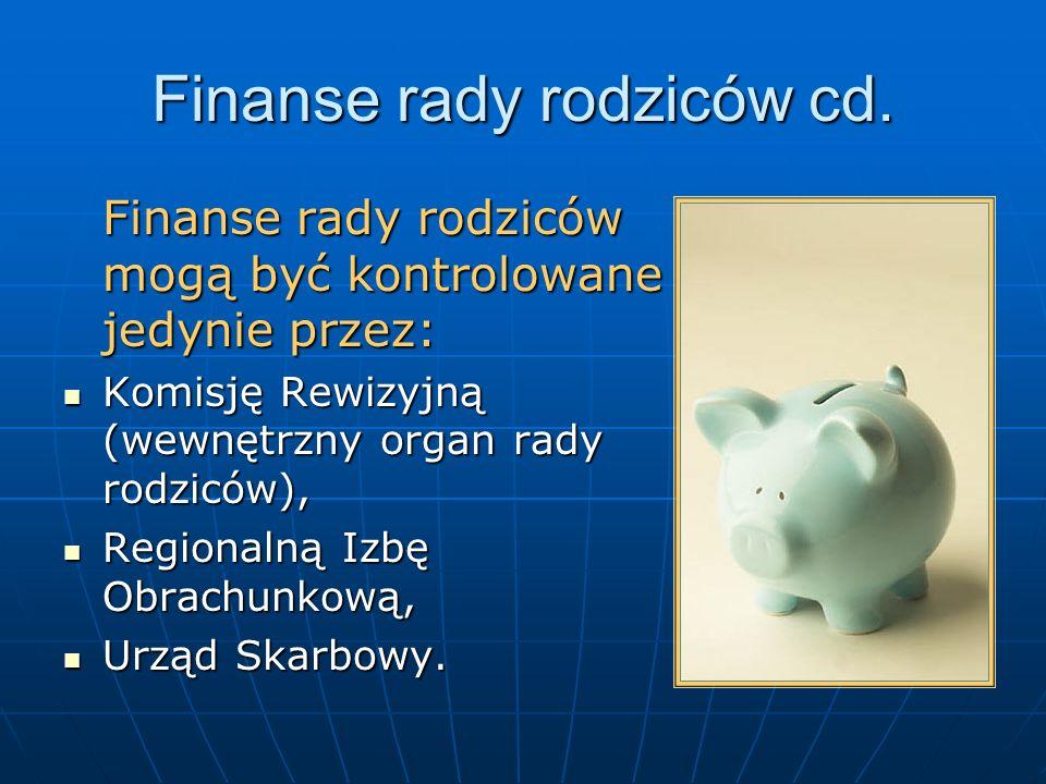 Finanse rady rodziców cd.