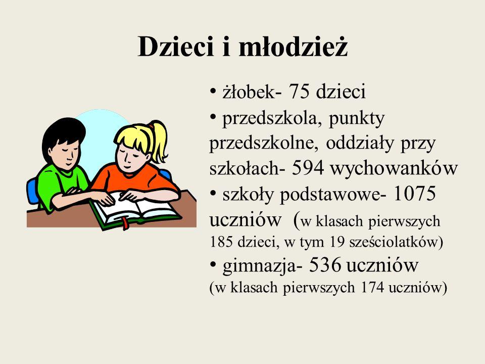 Dzieci i młodzież żłobek- 75 dzieci