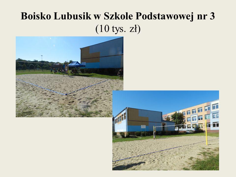 Boisko Lubusik w Szkole Podstawowej nr 3 (10 tys. zł)