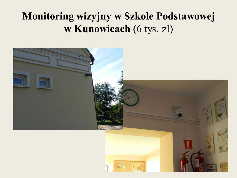 Monitoring wizyjny w Szkole Podstawowej w Kunowicach (6 tys. zł)