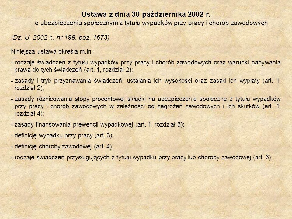 Ustawa z dnia 30 października 2002 r