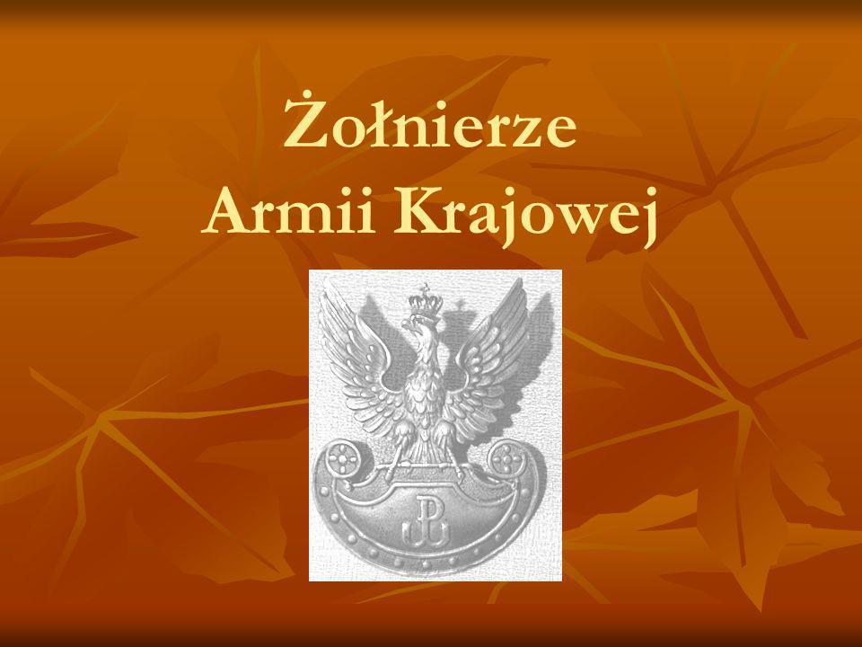 Żołnierze Armii Krajowej