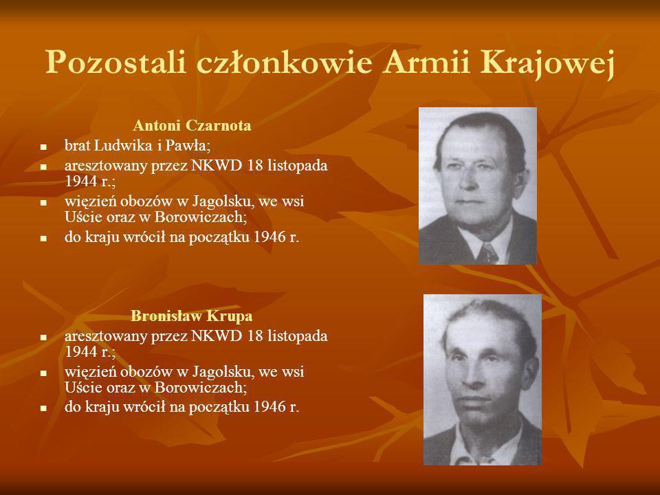 Pozostali członkowie Armii Krajowej