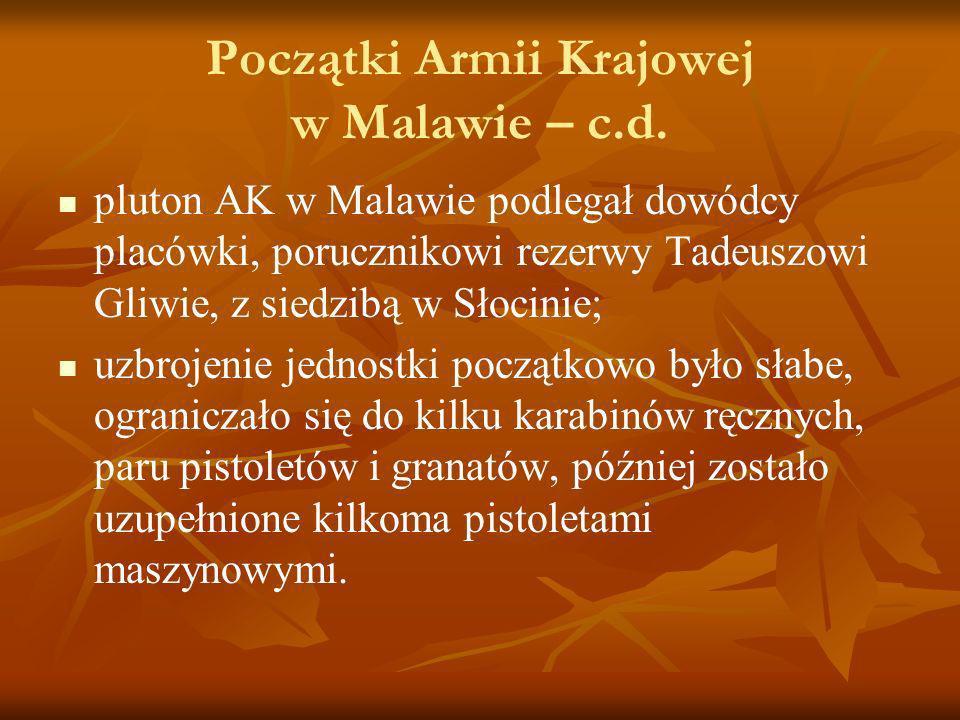 Początki Armii Krajowej w Malawie – c.d.
