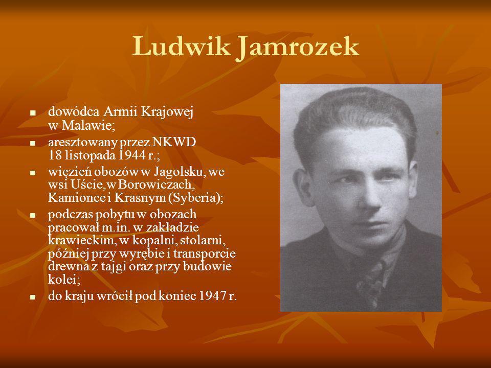 Ludwik Jamrozek dowódca Armii Krajowej w Malawie;