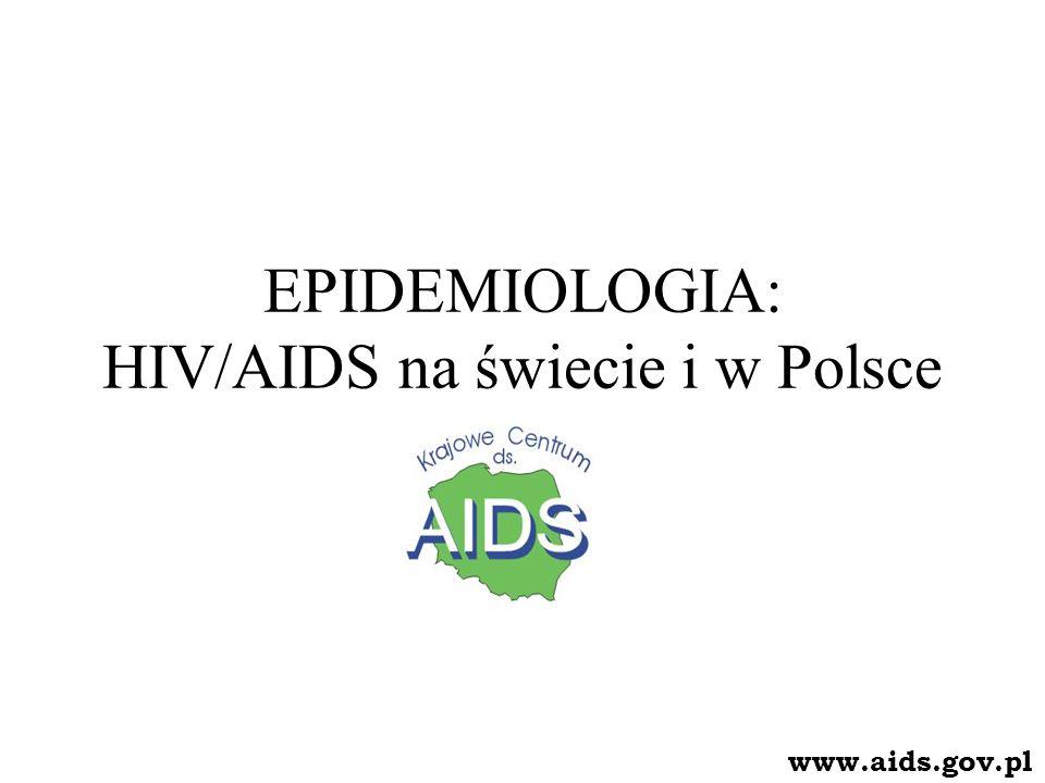 EPIDEMIOLOGIA: HIV/AIDS na świecie i w Polsce