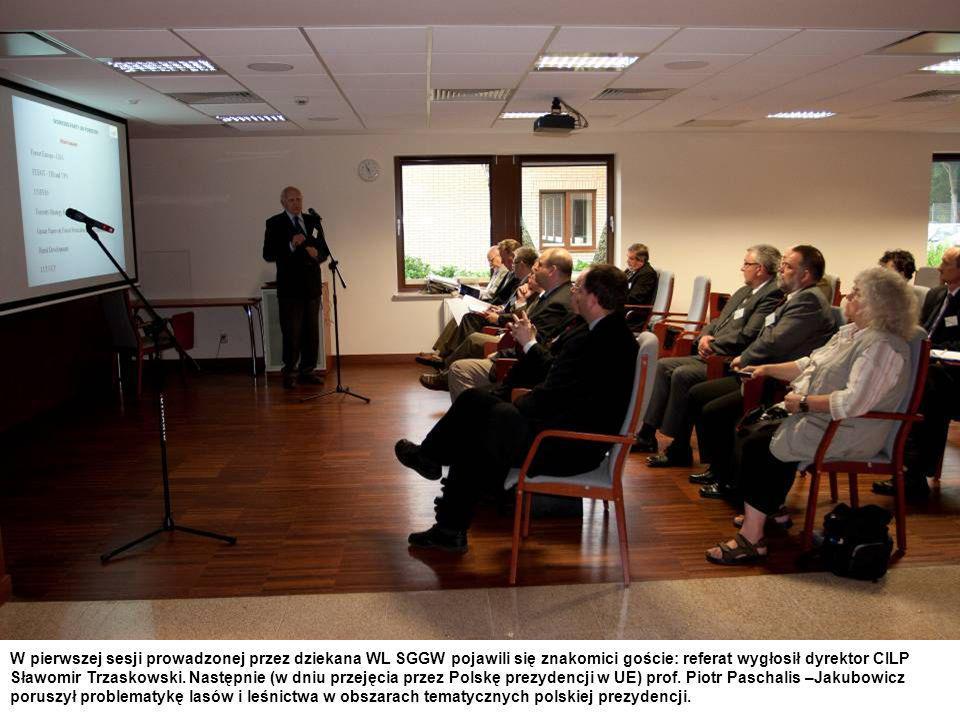 W pierwszej sesji prowadzonej przez dziekana WL SGGW pojawili się znakomici goście: referat wygłosił dyrektor CILP Sławomir Trzaskowski.
