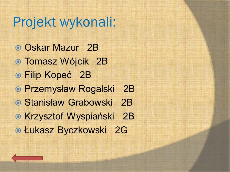 Projekt wykonali: Oskar Mazur 2B Tomasz Wójcik 2B Filip Kopeć 2B