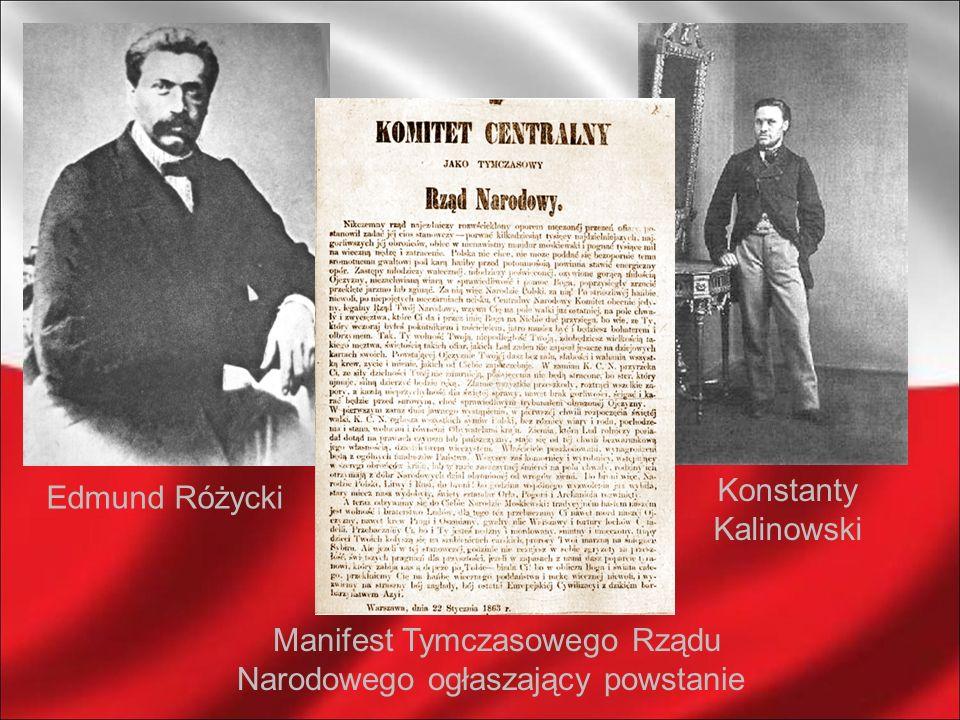 Manifest Tymczasowego Rządu Narodowego ogłaszający powstanie