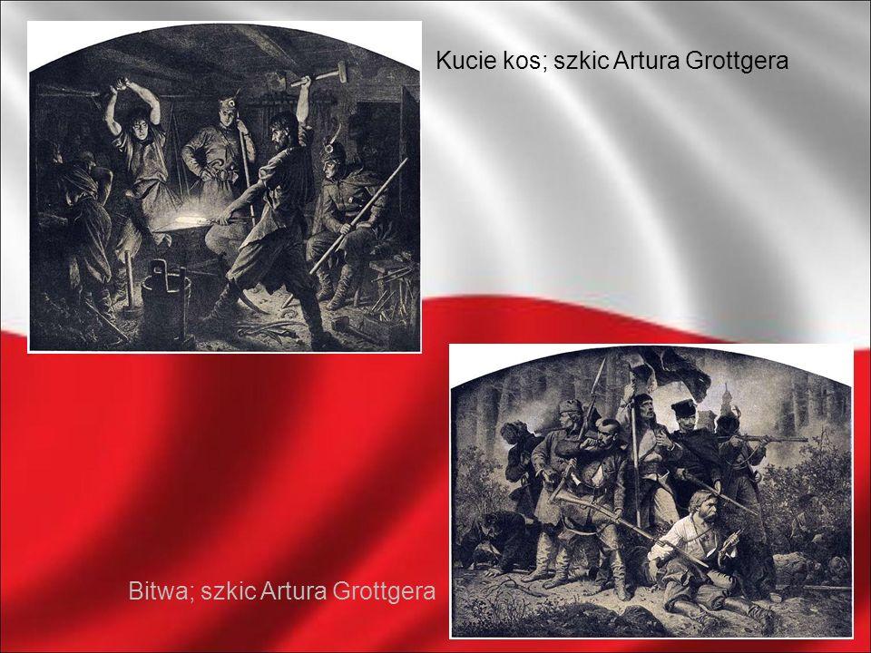 Bitwa; szkic Artura Grottgera