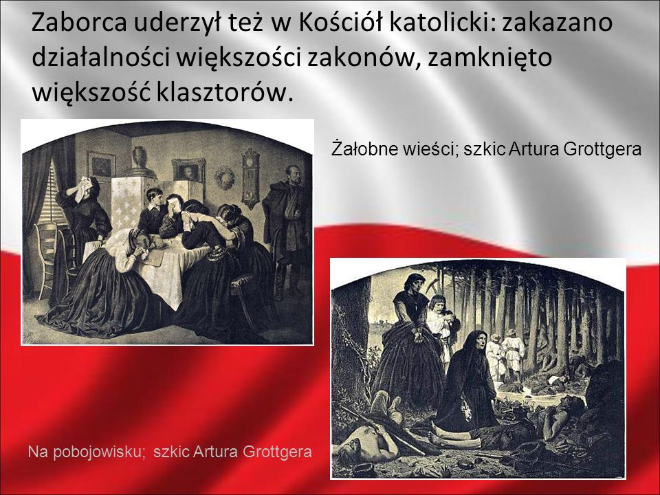 Zaborca uderzył też w Kościół katolicki: zakazano działalności większości zakonów, zamknięto większość klasztorów.