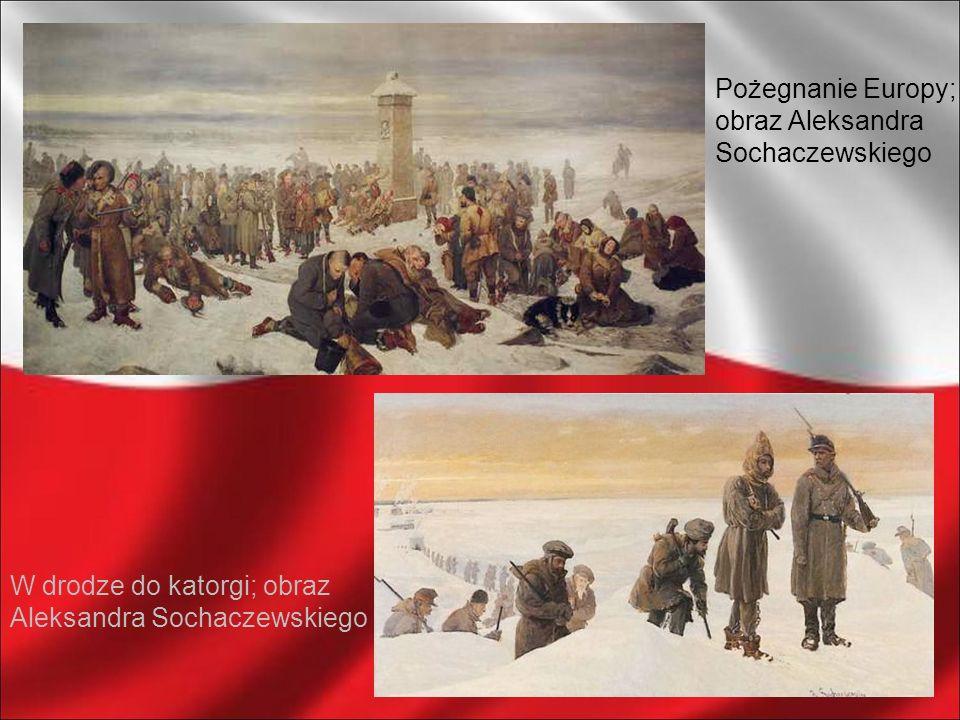 Pożegnanie Europy;obraz Aleksandra Sochaczewskiego.