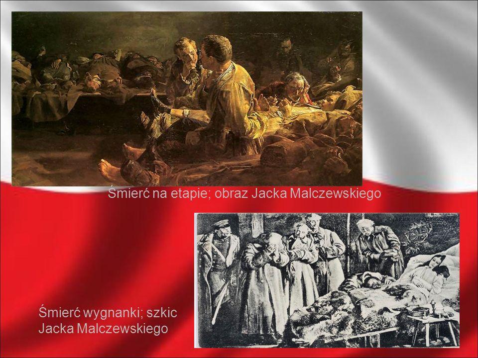 Śmierć na etapie; obraz Jacka Malczewskiego