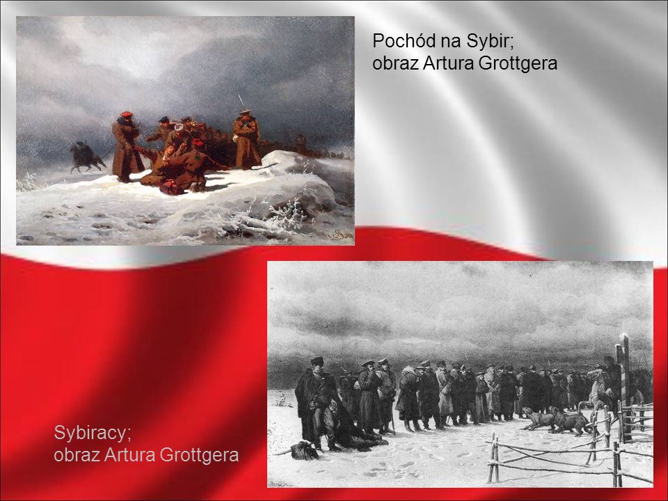Pochód na Sybir; obraz Artura Grottgera Sybiracy; obraz Artura Grottgera