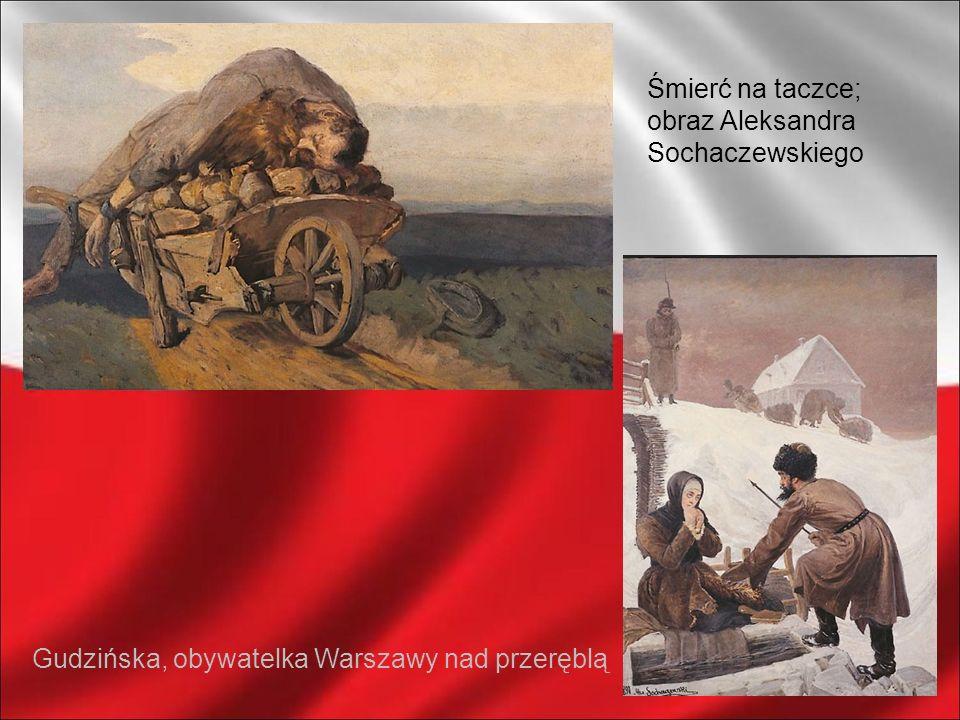 Śmierć na taczce; obraz Aleksandra Sochaczewskiego