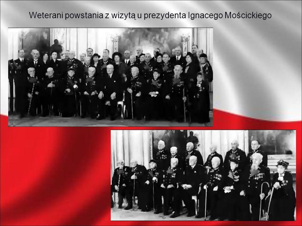 Weterani powstania z wizytą u prezydenta Ignacego Mościckiego