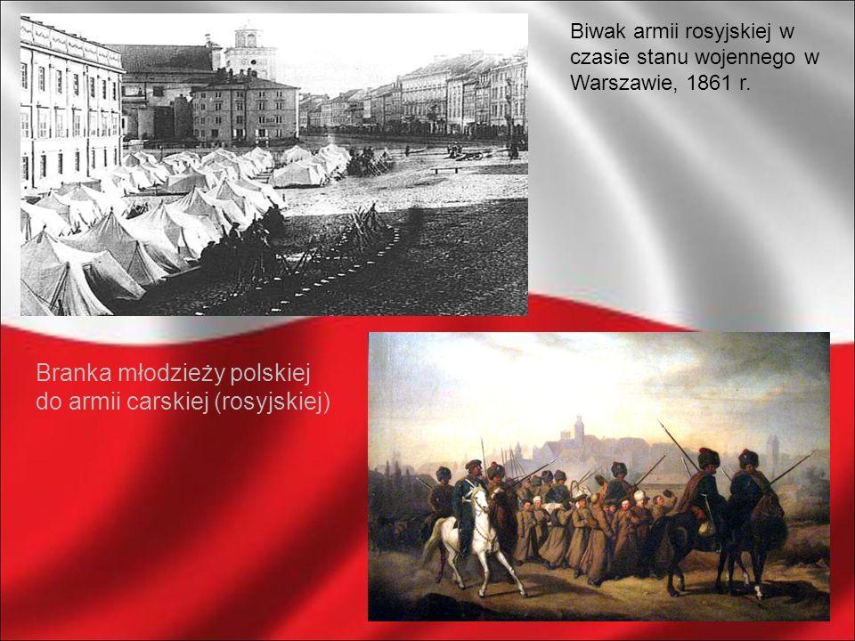 Branka młodzieży polskiej do armii carskiej (rosyjskiej)