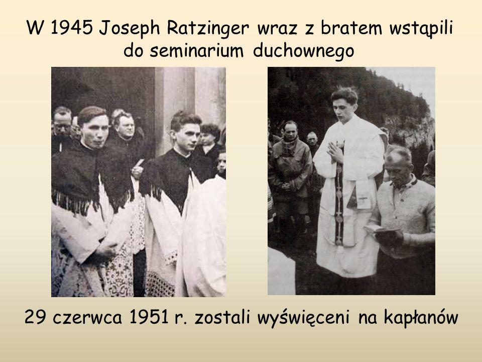 29 czerwca 1951 r. zostali wyświęceni na kapłanów