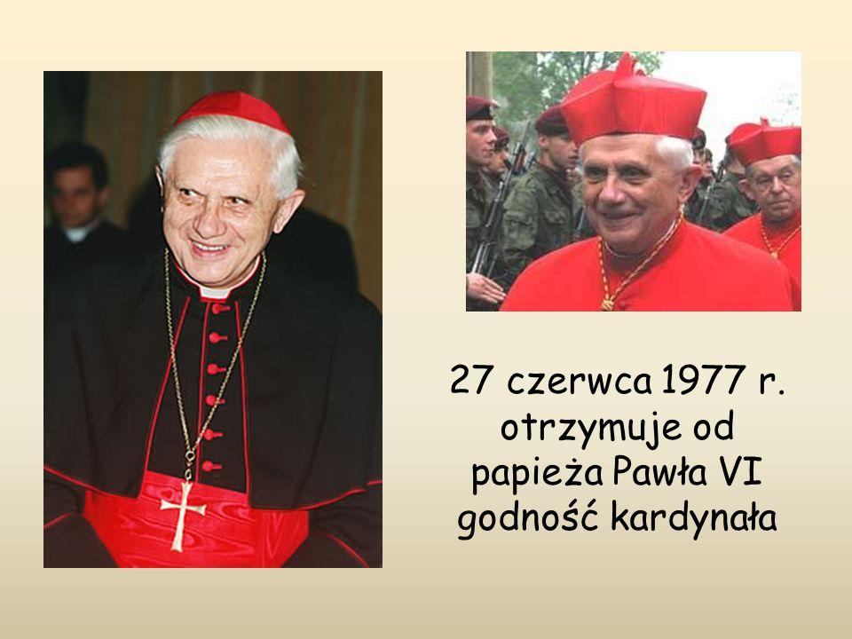 27 czerwca 1977 r. otrzymuje od papieża Pawła VI godność kardynała
