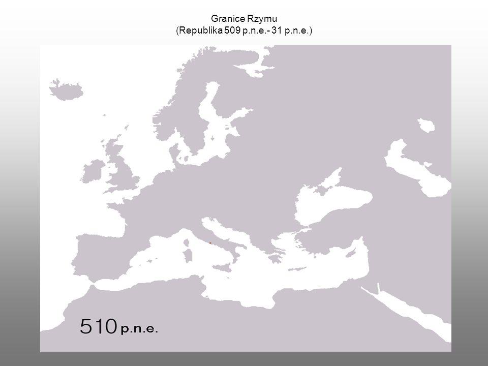 Granice Rzymu (Republika 509 p.n.e.- 31 p.n.e.)