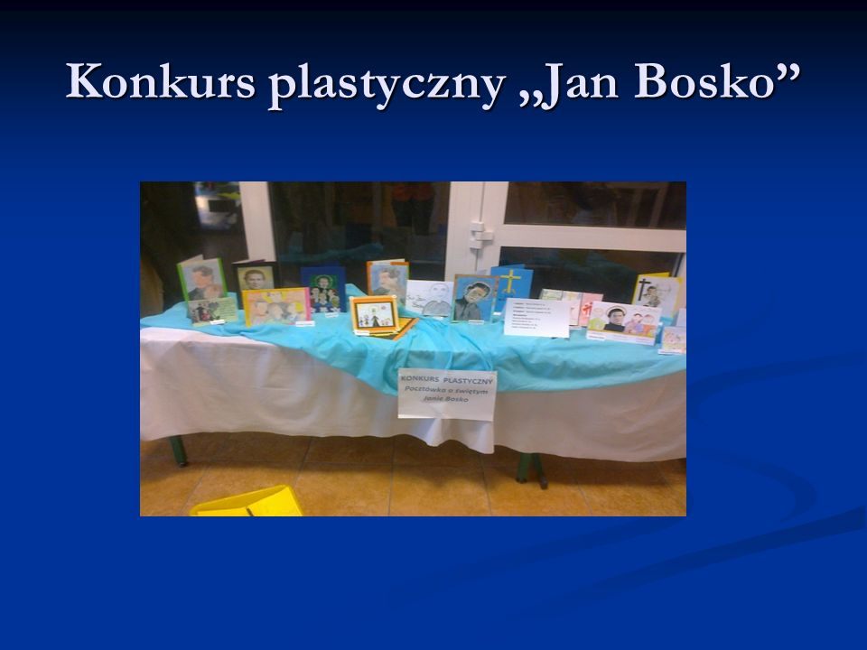 Konkurs plastyczny ,,Jan Bosko