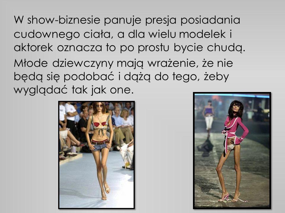 W show-biznesie panuje presja posiadania cudownego ciała, a dla wielu modelek i aktorek oznacza to po prostu bycie chudą.
