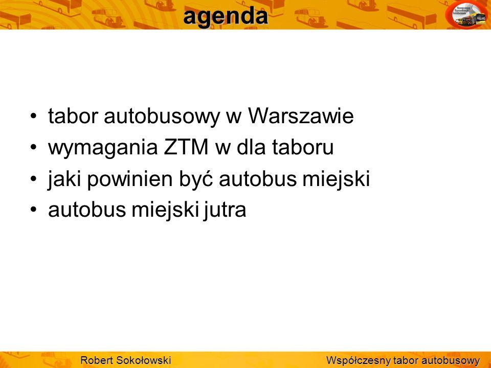 agenda tabor autobusowy w Warszawie wymagania ZTM w dla taboru
